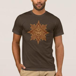 Aztekische Sun-Maske (goldenes Braun) T-Shirt
