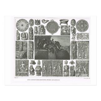 Aztekische und Mayariten, Zahlen und Artefakte Postkarte