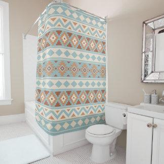 Aztekische Wesentliches Ptn IIIb blaue Duschvorhang
