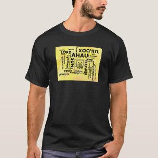 Aztekische Wortwolke Ahau Xochitl T - T-Shirt