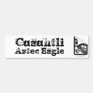 Aztekischer Cuauhtli - Adler-(schwarzer) Autoaufkleber