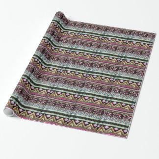 Aztekischer Druck in den flippigen Farben Geschenkpapier