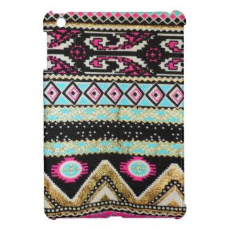 Aztekischer Druck in den flippigen Farben iPad Mini Hülle