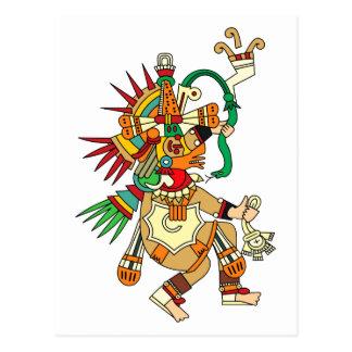 Aztekischer Gott Quetzalcoatl Postkarte