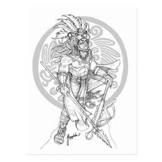 Aztekischer Jaguar-Krieger Postkarte