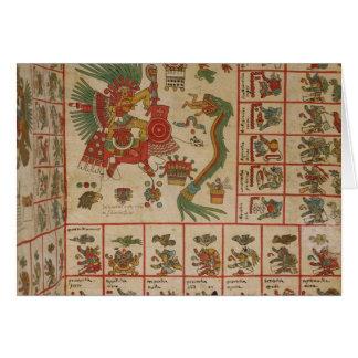 Aztekischer Kodex Borbonicus Karte