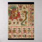 Aztekischer Kodex Borbonicus Poster
