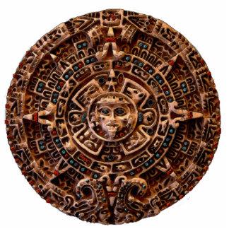 AZTEKISCHER mexikanischer (gemeißelter) Mayamagnet Fotoskulptur Magnet