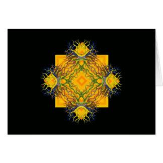 Aztekischer Sonnenschein mit Farben Karte