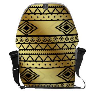 Aztekischer Stammes- Druck-neutrale Schwarz- u. Kurier Tasche