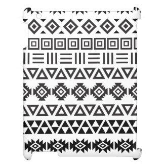 Aztekisches Art-Muster II (b) - Monochrom iPad Hülle