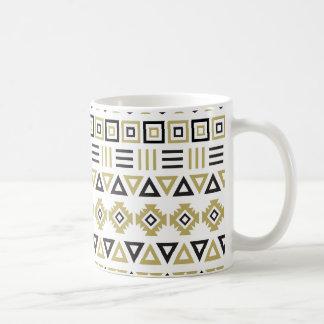 Aztekisches Art-Muster II (b) - Schwarz-weiß u. Kaffeetasse