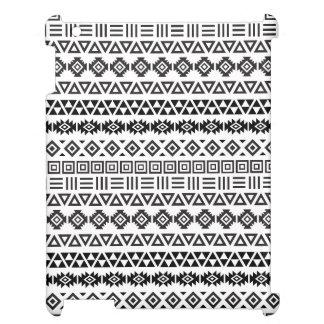 Aztekisches Art-Muster II - Monochrom iPad Hülle