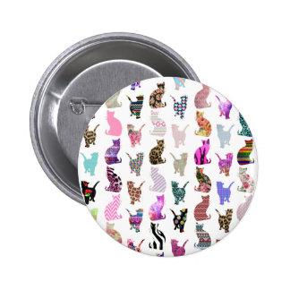 Aztekisches Blumenstreifenmuster der Girly wunderl Runder Button 5,7 Cm