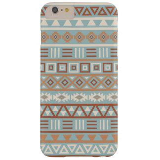 Aztekisches Einfluss-Muster-blaue Sahneterrakotta Barely There iPhone 6 Plus Hülle