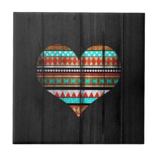 Aztekisches Herz Kleine Quadratische Fliese