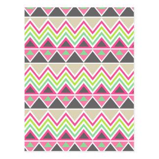 Aztekisches Muster Postkarte