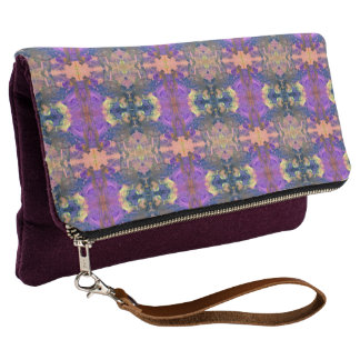 Aztekisches rosa Paisely Clutch