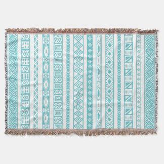 Aztekisches Stammes- ethnisches geometrisches Decke