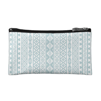 Aztekisches stilisiertes (V) Muster-Enten-Ei-Blau Makeup-Tasche