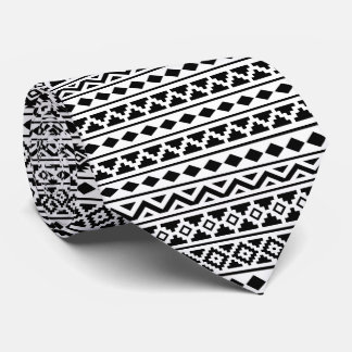 Aztekisches Wiederholungs-Muster-Schwarzes des Krawatte
