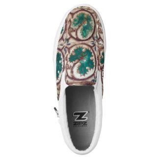 Azuleios Traum-grüne Blumenschuhe Slip-On Sneaker