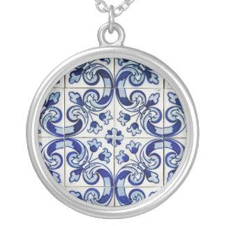 Azulejo Halskette Mit Rundem Anhänger