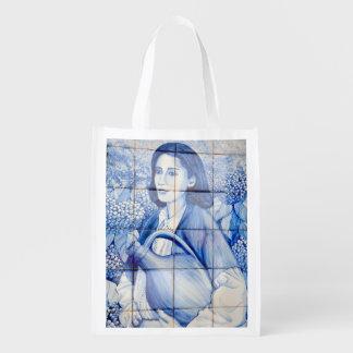 Azulejo Wandgemälde Wiederverwendbare Einkaufstasche
