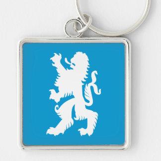 Azurblau-und weißerbayerischer Löwe Schlüsselanhänger