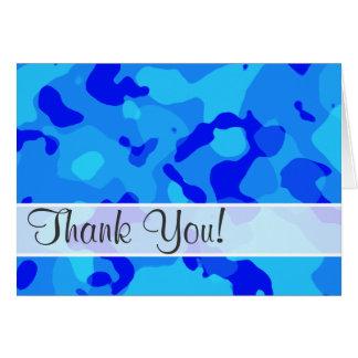 Azurblaue blaue Camouflage; Tarnung Karte