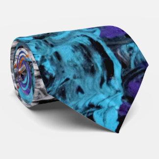 Azurblaue Eis-Krawatte Individuelle Krawatte