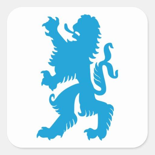 Azurblauer bayerischer Löwe Aufkleber
