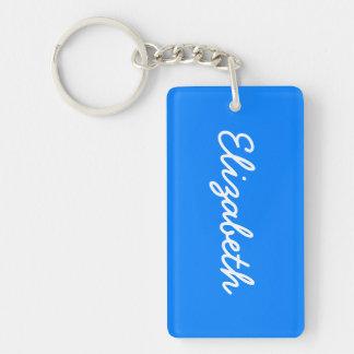 Azurblauer Normallack fertigen es besonders an Beidseitiger Rechteckiger Acryl Schlüsselanhänger