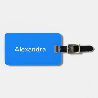 Azurblauer Normallack fertigen es besonders an Gepäckanhänger