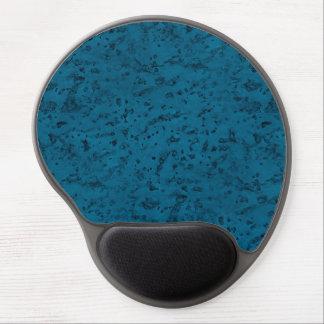 Azurblaues blaues Korken-Blick-Holz-Korn Gel Mouse Matten
