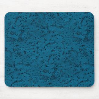 Azurblaues blaues Korken-Blick-Holz-Korn Mauspad