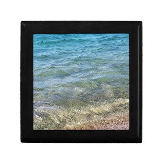 Azurblaues Wasser von Mittelmeer Geschenkbox