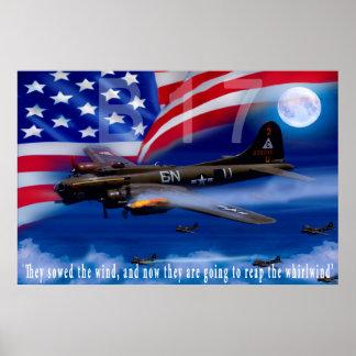 B17 mit Bomber-Harris-Zitat Poster