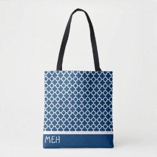 B1 Quatrefoil Minderjährig-Monogramm Tasche