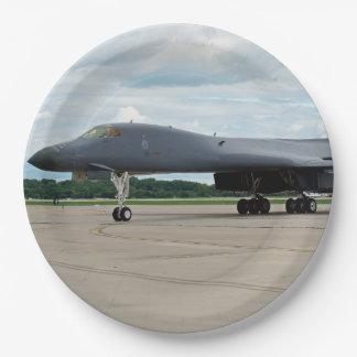 B-1B Lancer-Bomber auf dem Boden Pappteller