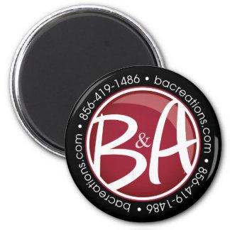B&A runder Magnet Kühlschrankmagnet