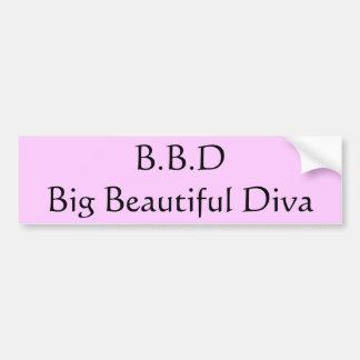 B.B.D große schöne Diva Autoaufkleber