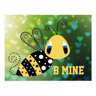 B-Bergwerk-Blasen-Biene Postkarte
