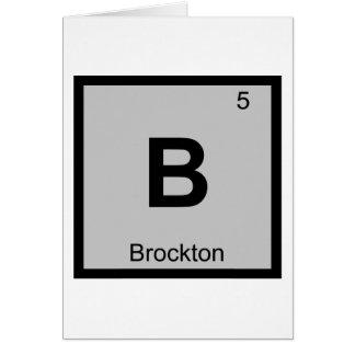 B - Brockton Massachusetts Chemie-Symbol-Stadt Karte