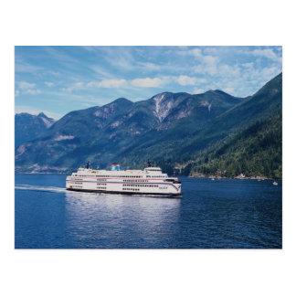 B.C. Fähre von Vancouver zu Nanaimo auf Vancouver Postkarte