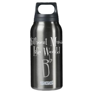 B flaches dunkles Sigg heiße u. kalte Flasche