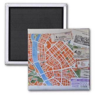 B für Budapest-Magneten Quadratischer Magnet