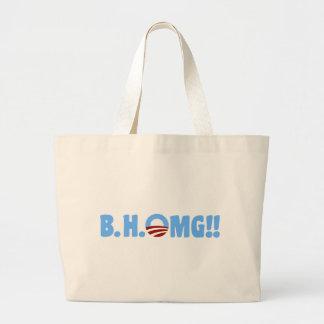 B.H.OMG!! Anti-Obama Jumbo Stoffbeutel