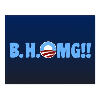 B.H.OMG!! Anti-Obama Postkarte