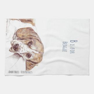 B ist für Beagle Handtuch